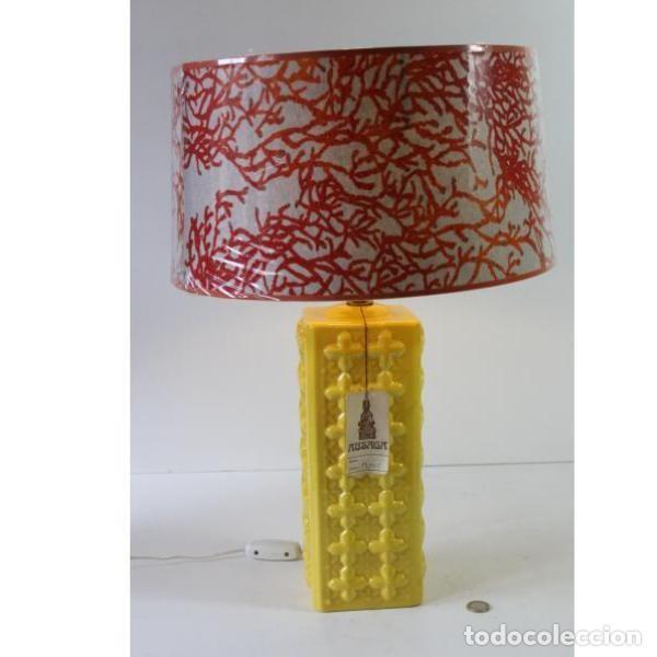 Antigüedades: Antigua lámpara retro vintage manises - Foto 7 - 153244342