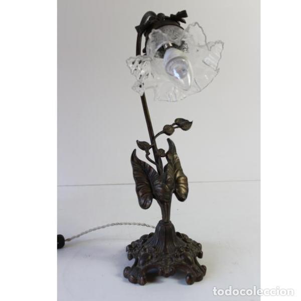 Antigüedades: Antigua lámpara de mesa de hierro - Foto 6 - 153249786
