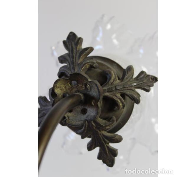 Antigüedades: Antigua lámpara de mesa de hierro - Foto 8 - 153249786