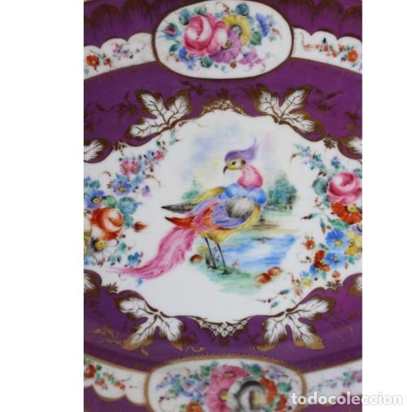 Antigüedades: Antigua bandeja de porcelana - Foto 2 - 153250174