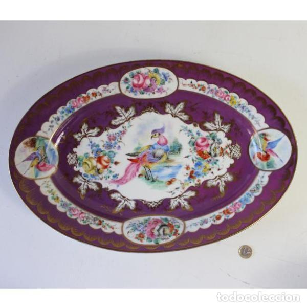 Antigüedades: Antigua bandeja de porcelana - Foto 4 - 153250174