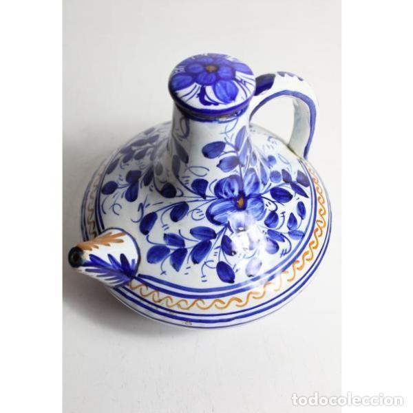 ANTIGUO BOTIJO DE CERÁMICA CON TAPÓN (Antigüedades - Porcelanas y Cerámicas - Talavera)