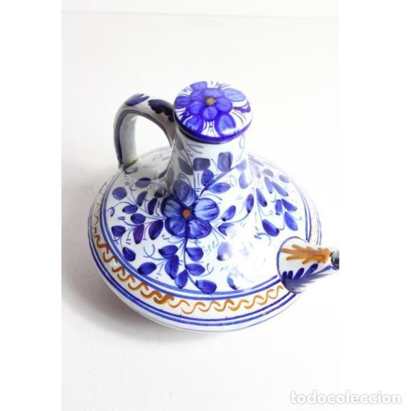 Antigüedades: Antiguo botijo de cerámica con tapón - Foto 2 - 153251502