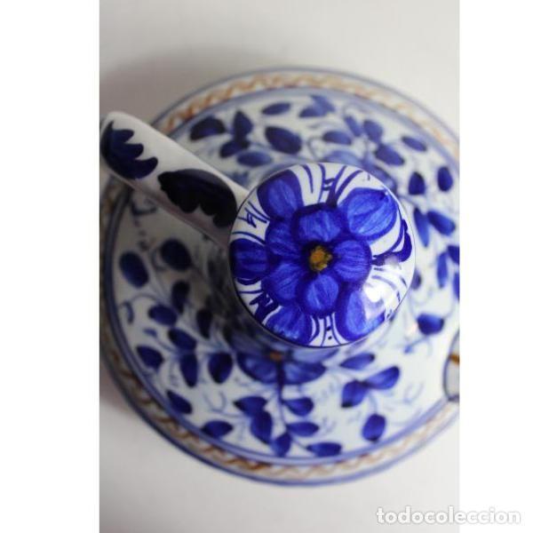 Antigüedades: Antiguo botijo de cerámica con tapón - Foto 3 - 153251502