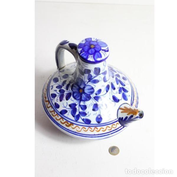 Antigüedades: Antiguo botijo de cerámica con tapón - Foto 5 - 153251502