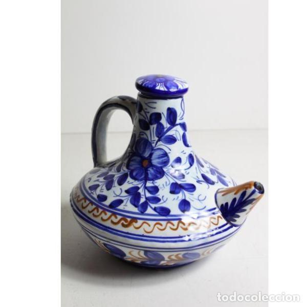 Antigüedades: Antiguo botijo de cerámica con tapón - Foto 6 - 153251502