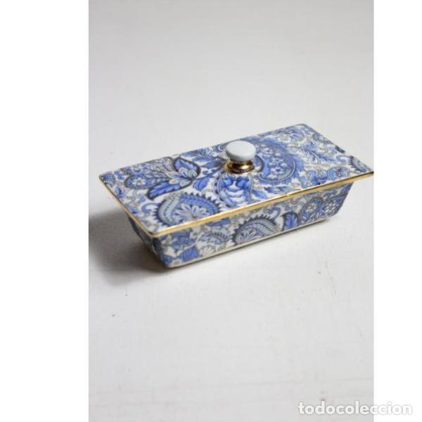 Antigüedades: Antiguo joyero de porcelana - Foto 4 - 153255894