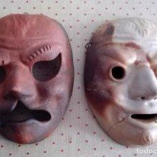Antigüedades: DOS MÁSCARAS DE ARCILLA. Lote 153261438