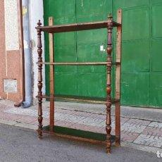 Antigüedades: ESTANTERÍA LIBRERÍA ANTIGUA ESTILO ALFONSINO, S. XIX. LIBRERO ANTIGUO DE BIBLIOTECA.. Lote 153267230