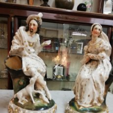 Antigüedades: PAREJA DE PORCELANAS. Lote 153271553