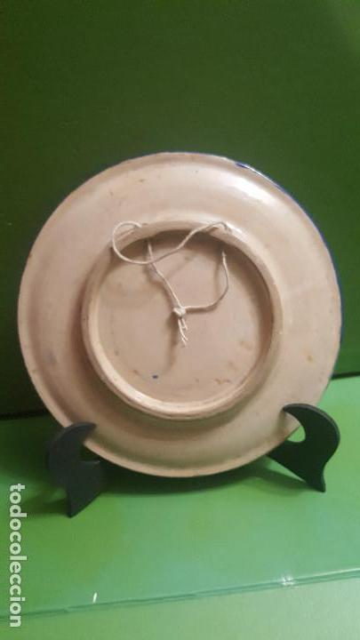 Antigüedades: ANTIGUO PLATO CUERDA SECA DE TRIANA CON ESCENA DEL QUIJOTE - POSIBLEMENTE SANTA ANA - Foto 5 - 153275642