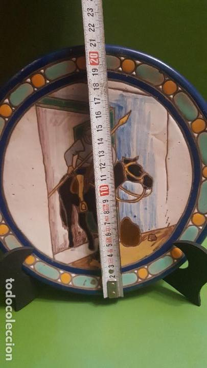 Antigüedades: ANTIGUO PLATO CUERDA SECA DE TRIANA CON ESCENA DEL QUIJOTE - POSIBLEMENTE SANTA ANA - Foto 7 - 153275642