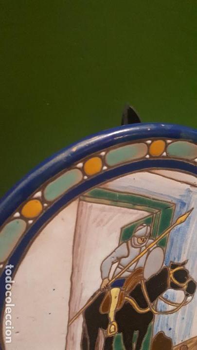 Antigüedades: ANTIGUO PLATO CUERDA SECA DE TRIANA CON ESCENA DEL QUIJOTE - POSIBLEMENTE SANTA ANA - Foto 8 - 153275642