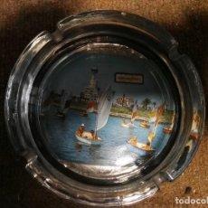 Antigüedades: CENICERO DE CRISTAL AMPURIA BRAVA. Lote 153363858