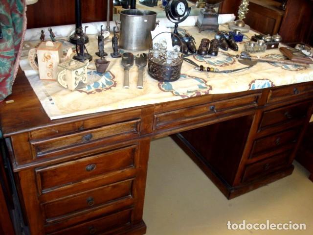 Antigüedades: Mesa escritorio en madera de acacia - Foto 2 - 153369558