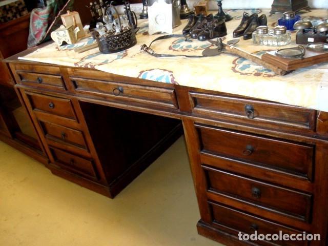 Antigüedades: Mesa escritorio en madera de acacia - Foto 3 - 153369558