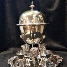 Antiquités: BENET FINK . BENETFINK & CO LONDON. HUEVERA. RARO CALENTADOR DE HUEVOS. PLATEADO.. Lote 153375816