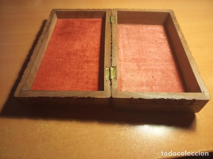 Antigüedades: Caja madera tallada - Foto 2 - 153399902