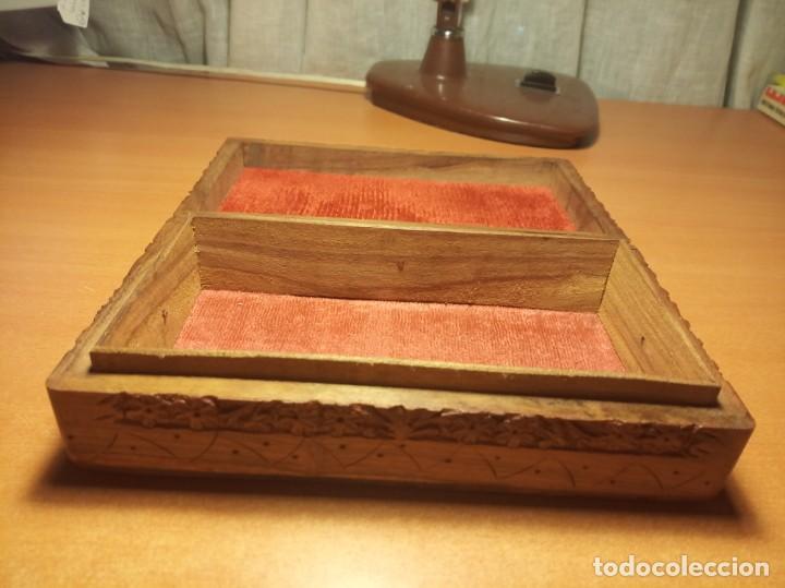Antigüedades: Caja madera tallada - Foto 4 - 153399902