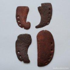 Antigüedades: 4 ANTIGUAS HERRADURAS DE VACA DE DISTINTOS TAMAÑOS. Lote 153439610