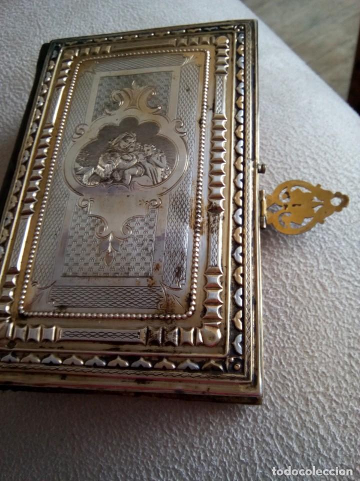 * OFICIO DIVINO.LIBRO 1843.TAPAS PLATA SOBREDORADA. (RF: BV/G*) (Antigüedades - Religiosas - Varios)