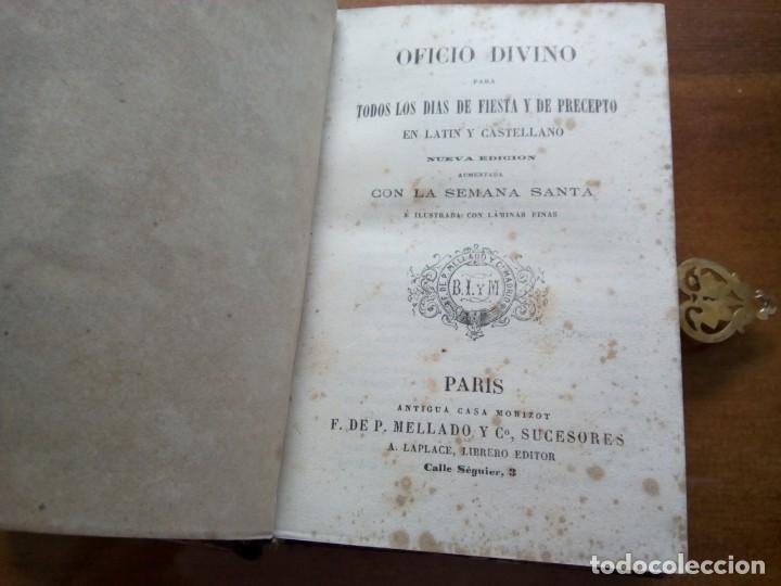 Antigüedades: * OFICIO DIVINO.LIBRO 1843.TAPAS PLATA SOBREDORADA. (RF: BV/g*) - Foto 4 - 153454322