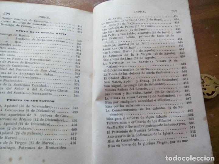 Antigüedades: * OFICIO DIVINO.LIBRO 1843.TAPAS PLATA SOBREDORADA. (RF: BV/g*) - Foto 14 - 153454322
