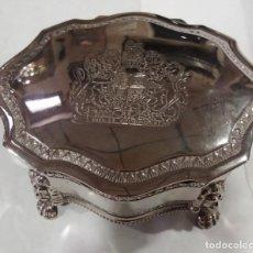 Antigüedades: CAJA DE ALPACA - JOYERO. Lote 153454354