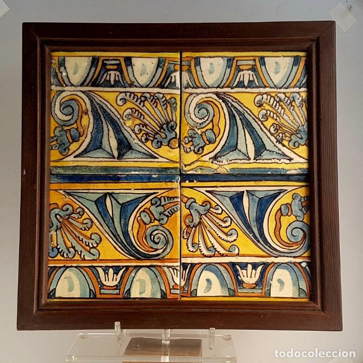 CUADRO DE AZULEJOS CATALANES S XVII (Antigüedades - Porcelanas y Cerámicas - Catalana)