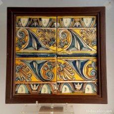 Antigüedades: CUADRO DE AZULEJOS CATALANES S XVII. Lote 153456302