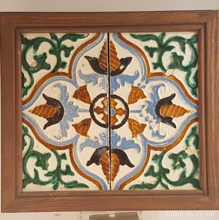 MARCO AZULEJOS TRIANA S XVI (Antigüedades - Porcelanas y Cerámicas - Triana)