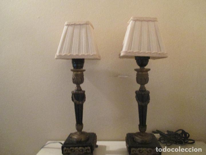 PAREJA LÁMPARAS INGLESAS. (Antigüedades - Iluminación - Lámparas Antiguas)