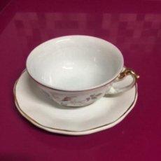 Antigüedades: TAZAS Y PLATOS CAFÉ. PICKMAN-LA CARTUJA. Lote 153498118
