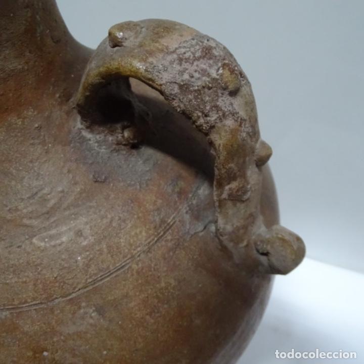 Antigüedades: Antigua tinaja con asas de barro.por determinar procedencia. - Foto 5 - 153502222