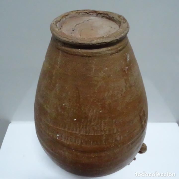 Antigüedades: Antigua tinaja con asas de barro.por determinar procedencia. - Foto 10 - 153502222