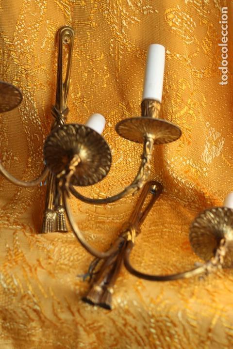 Antigüedades: ANTIGUOS APLIQUES Aplique DE BRONCE dorado ESTILO Luis XV - Foto 11 - 149985206