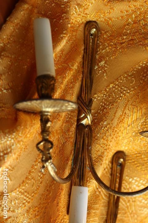 Antigüedades: ANTIGUOS APLIQUES Aplique DE BRONCE dorado ESTILO Luis XV - Foto 5 - 149985206