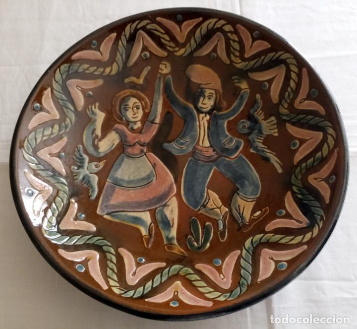 Antigüedades: PLATO CERAMICA DECORACION SARDANISTA - VILA CLARA - 31.5 CMS - Foto 2 - 153530994