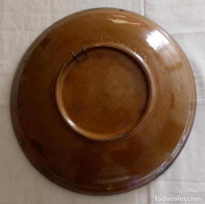 Antigüedades: PLATO CERAMICA DECORACION SARDANISTA - VILA CLARA - 31.5 CMS - Foto 8 - 153530994