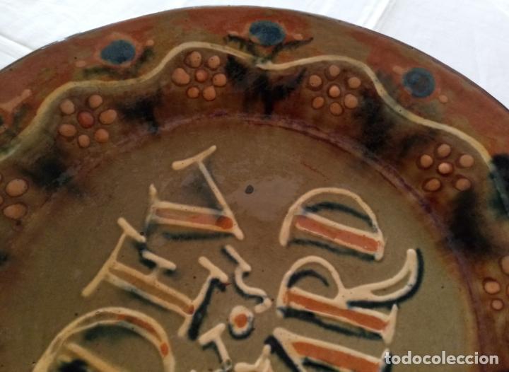 Antigüedades: PLATO CERAMICA DECORACION - DEU VOS GUARD - VILA CLARA - 31 CMS - Foto 4 - 153531862