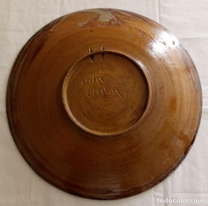 Antigüedades: PLATO CERAMICA DECORACION - DEU VOS GUARD - VILA CLARA - 31 CMS - Foto 8 - 153531862