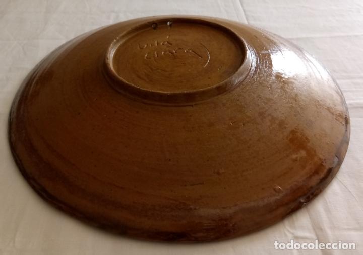 Antigüedades: PLATO CERAMICA DECORACION - DEU VOS GUARD - VILA CLARA - 31 CMS - Foto 9 - 153531862
