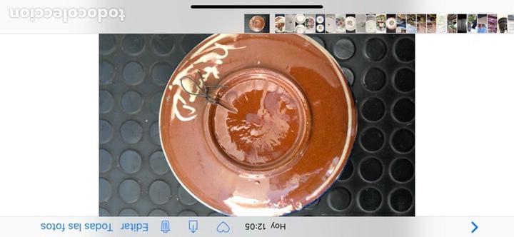 Antigüedades: Plato cerámica vidriada. Pez firmado Puigdemont - Foto 3 - 153535540