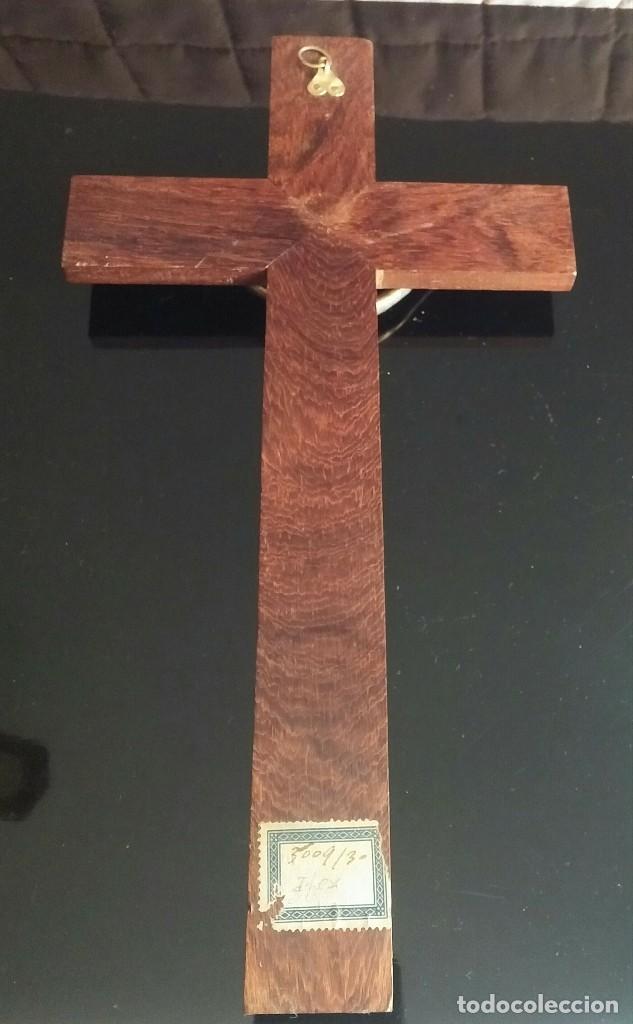 Antigüedades: Crucifijo de pared de madera - Foto 4 - 153607774