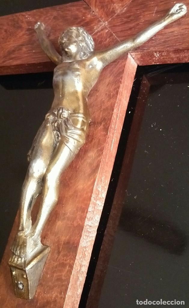 Antigüedades: Crucifijo de pared de madera - Foto 8 - 153607774