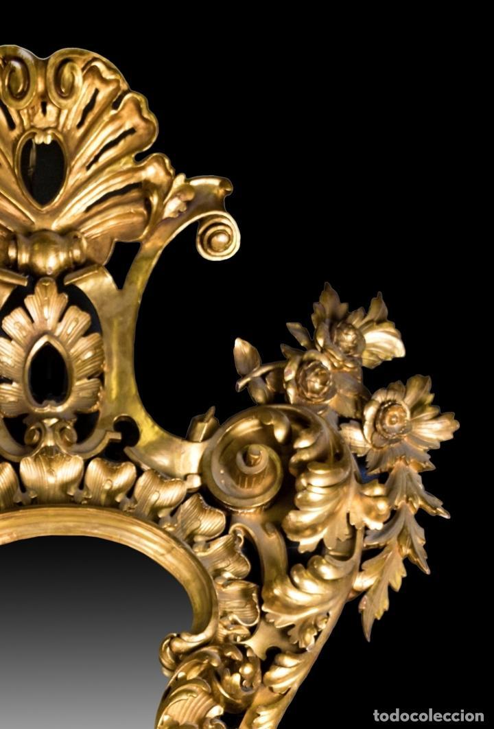 Antigüedades: CORNUCOPIA EN MADERA DORADA S. XIX - Foto 4 - 153613946