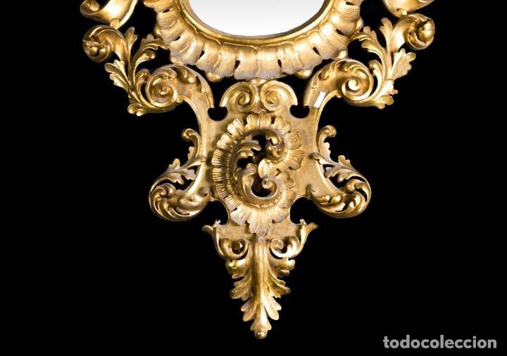 Antigüedades: CORNUCOPIA EN MADERA DORADA S. XIX - Foto 6 - 153613946
