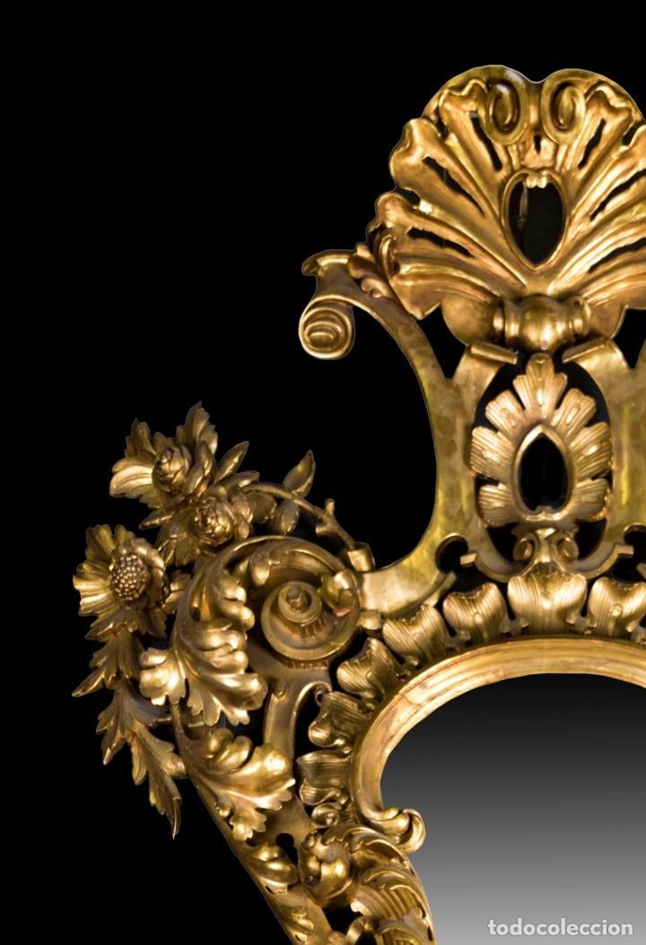 Antigüedades: CORNUCOPIA EN MADERA DORADA S. XIX - Foto 8 - 153613946