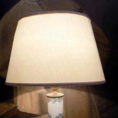 Antigüedades: BONITA LAMPARA DE CERAMICA , 50 CM PRINCIPIOS DEL SIGLO XX, FUNCIONA, VER FOTOS.. Lote 153624698