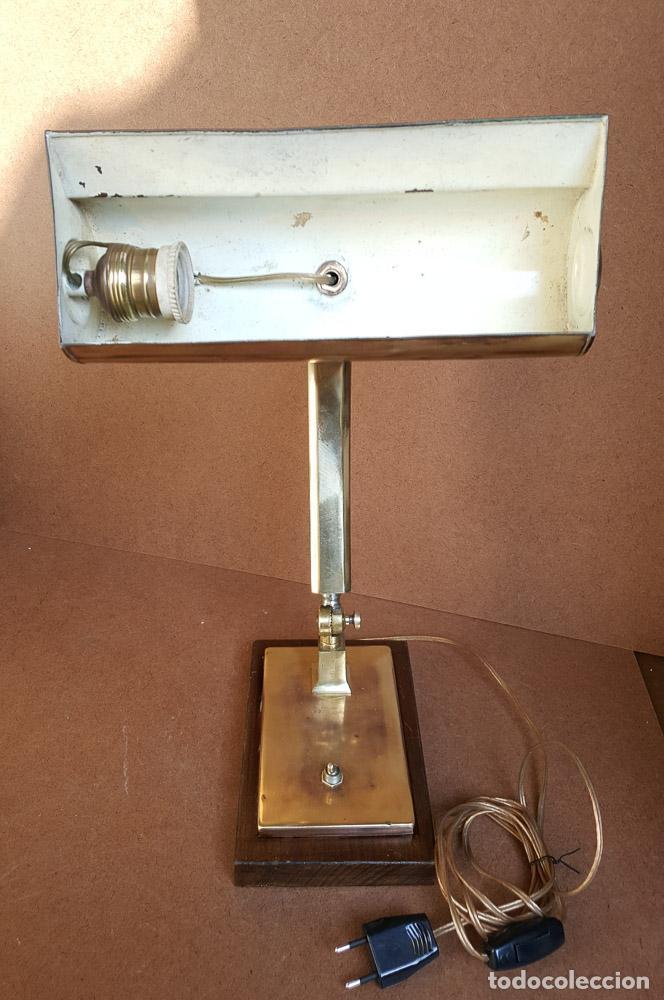 Antigüedades: LAMPARA DE SOBREMESA, DESPACHO, OFICINA VINTAGE, AÑOS 1930-40 - Foto 6 - 153625126